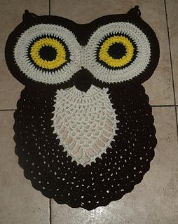 Crochet Owl Rug Pattern By Valerie Fuller