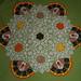 Thanksgiving Turkeys and Leaves Crochet Doily pattern
