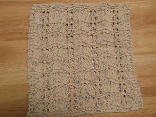 pretty violets dish cloth