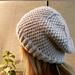Purl Twist Slouchy Beanie Hat pattern