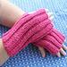 Fingerless Gloves on Straight Needles  pattern