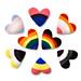 Pride Flag Hearts Amigurumi pattern