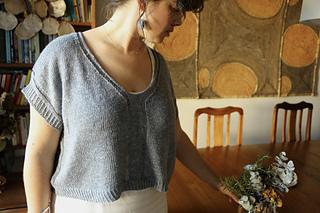 """52.5"""" garment on 40.5"""" chest, body length knit to 9.5"""" before upper body split."""
