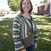 Self-Stripe Shrug pattern