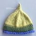 Pixie Point Baby Hat pattern