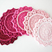Ombre Crocheted Coasters pattern