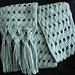A Scarf to Knit with Macramé Trim pattern