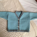 V-Neck Cardigan with Contrast Ribs pattern