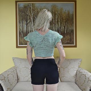 Ruffle Sleeve Option with waist shaping.