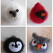 Felted Woolly Bird Holiday Ornaments pattern