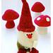 Felted Woolly Gnome & Mushroom pattern