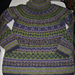 Lilac Mist Turtleneck sweater in the round pattern