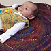 Twirling Colors Baby Blanket pattern
