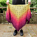 Plum Trees and Bees shawl pattern