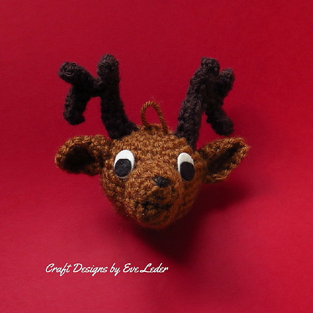 Rudolph The Red-Nosed Reindeer Free Amigurumi Pattern Modification ... | 640x640