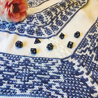 Yasha Nydoorin, the inspiration for this shawl, is a collector of beautiful flowers.