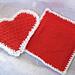 Textured Heart Kitchen Set pattern
