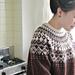 シェットランドウールの編み込み柄セーター pattern