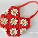 Crochet 3D Flower Purse pattern
