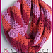 Diagonal Granny Stripe Infinity Scarf pattern